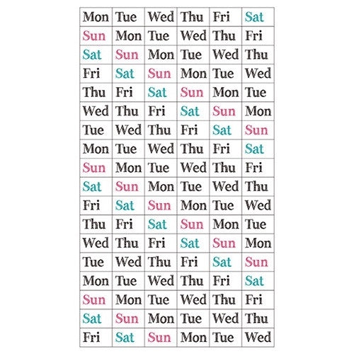 DAYS OF THE WEEK STICKERS (ABBREVIATED)