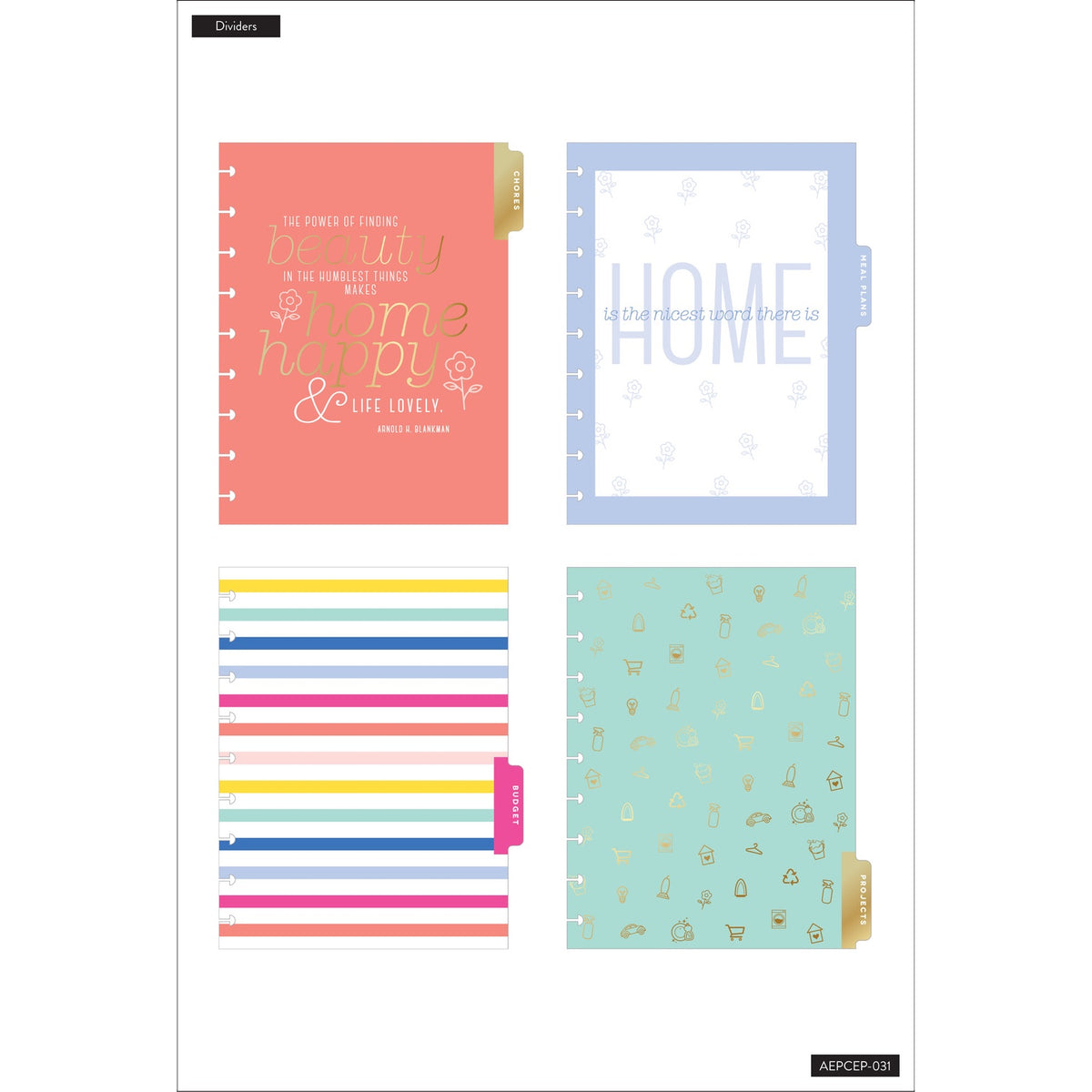 HAPPY HOME EXTENSION PACK : CLASSIC HAPPY PLANNER