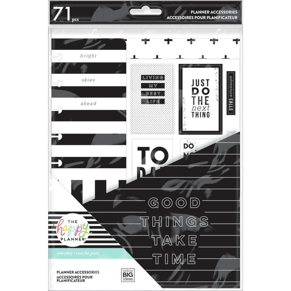 HAPPY PLANNER ACCESSORY PACK : CLASSIC : BLACK & WHITE