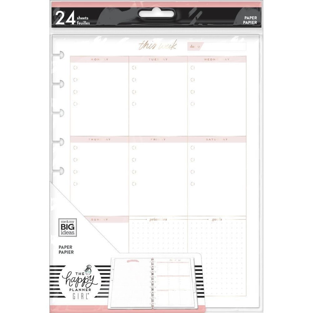 FOIL NOTE PAPER - MINIMALIST WEEKLY SCHEDULE : CLASSIC HAPPY PLANNER