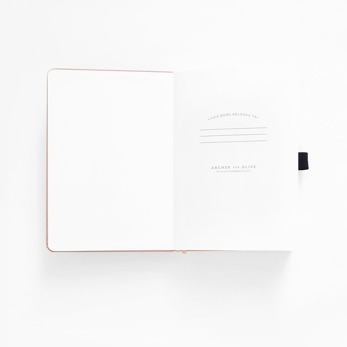 A5 BLANK PAGES NOTEBOOK : CRESCENT MOON