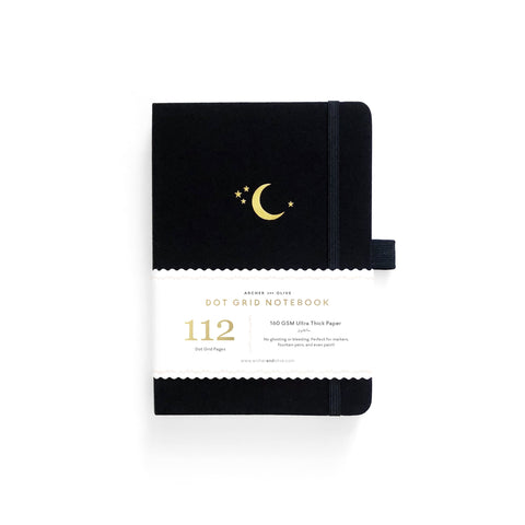B6 DOT GRID NOTEBOOK : CRESCENT MOON
