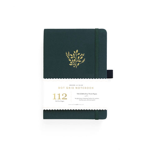 B6 DOT GRID NOTEBOOK : DEEP GREEN