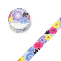 FLORAL CAT WASHI TAPE - FROM JAPAN!