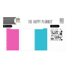 CLEAR DASHBOARDS WITH TABS : CLASSIC HAPPY PLANNER