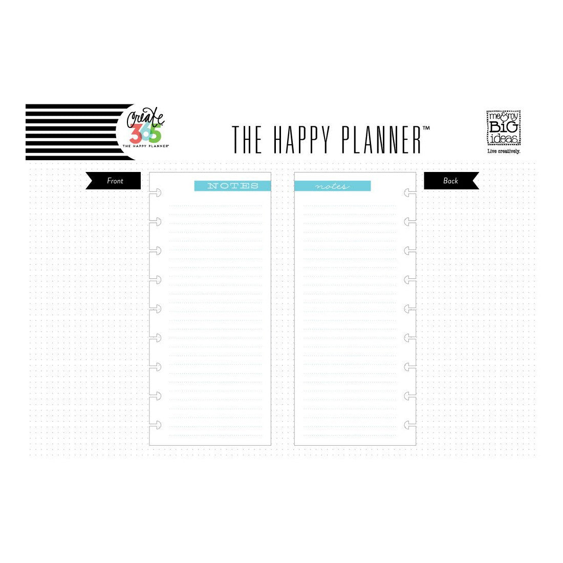NOTE PAPER - HALF SHEET : CLASSIC HAPPY PLANNER