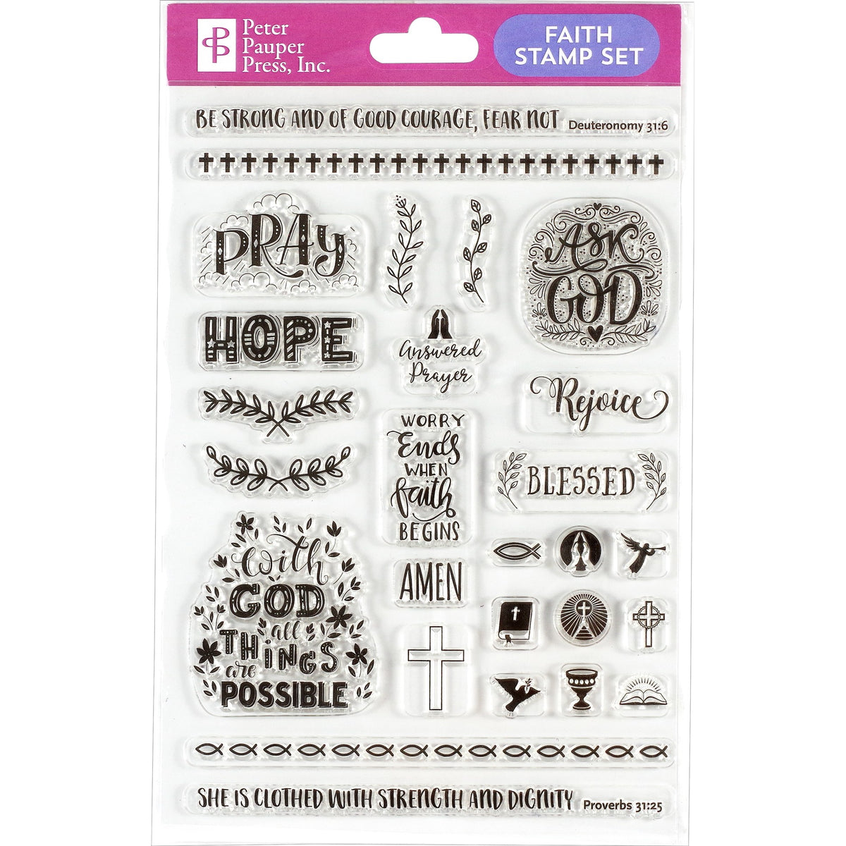 FAITH CLEAR STAMPS