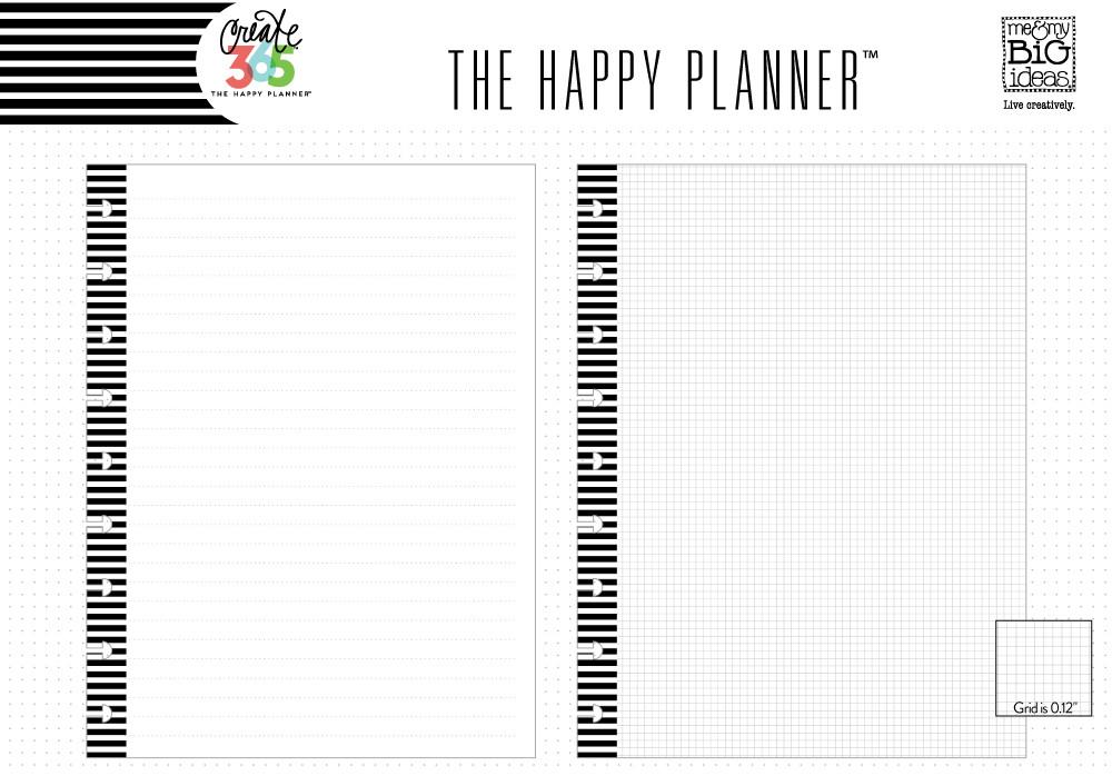 NOTE PAPER - LINED & GRAPH : CLASSIC HAPPY PLANNER