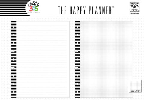 NOTE & GRAPH PAPER INSERT : CLASSIC HAPPY PLANNER