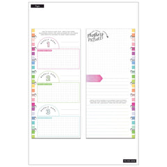 HALF-SHEET NOTE PAPER - FITNESS : CLASSIC HAPPY PLANNER
