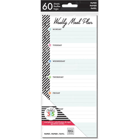 HALF SHEET NOTE PAPER - MEAL PLAN : CLASSIC HAPPY PLANNER
