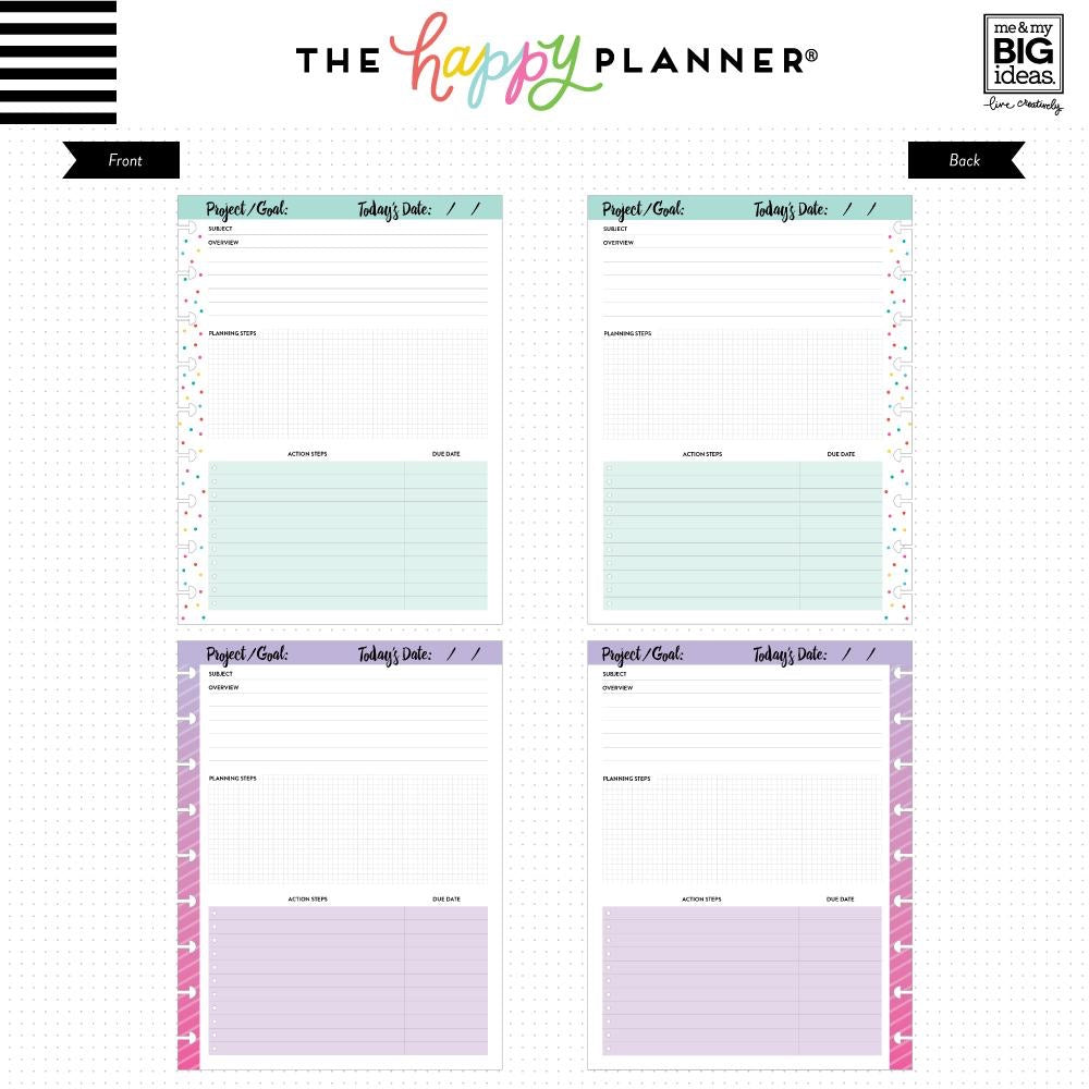 PROJECTS FILL PAPER : CLASSIC HAPPY PLANNER