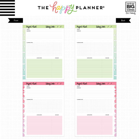 THE HAPPY PLANNER - FIL-37 PROJECTS FILL PAPER - CLASSIC HAPPY PLANNER - AUSTRALIA