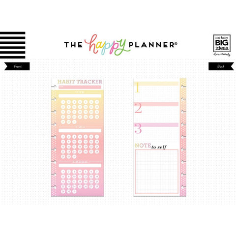 HALF SHEET NOTE PAPER - HABIT TRACKER : CLASSIC HAPPY PLANNER