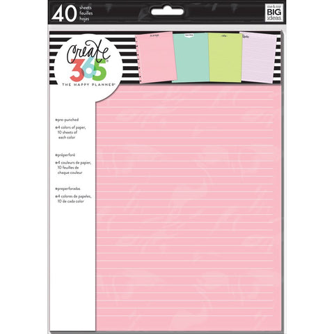 COLOURED NOTE PAPER : BIG HAPPY PLANNER