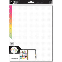 RAINBOW DOT GRID FILL PAPER : BIG HAPPY PLANNER
