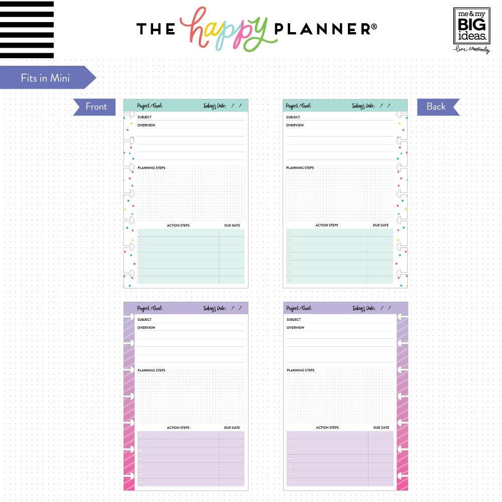 NOTE PAPER - PROJECTS : MINI HAPPY PLANNER