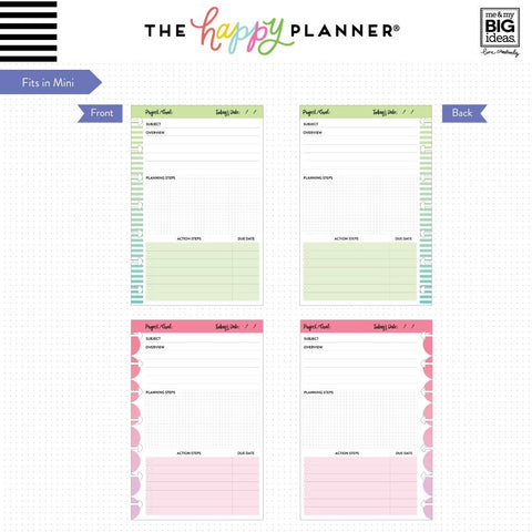 THE HAPPY PLANNER - FILM-07 PROJECTS FILL PAPER - MINI HAPPY PLANNER - AUSTRALIA