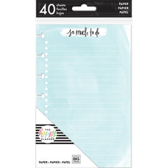 COLOURED NOTE PAPER - WATERCOLOUR : MINI HAPPY PLANNER