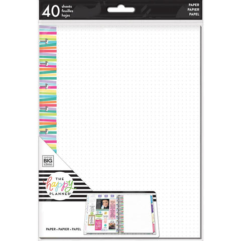 FILL PAPER : MULTI-STRIPE (DOT GRID) : CLASSIC HAPPY PLANNER