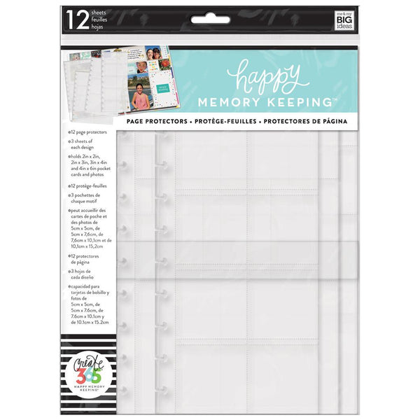 HAPPY MEMORY KEEPING POCKET PAGE PROTECTORS : BIG