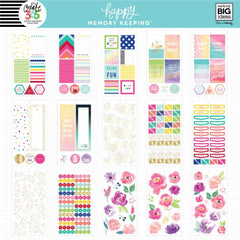 HAPPY MEMORY KEEPING VALUE PACK STICKERS : BIG : FLORAL MEMORIES