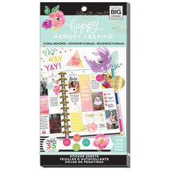 HAPPY MEMORY KEEPING VALUE PACK STICKERS - FLORAL MEMORIES - HAPPY PLANNER STICKERS