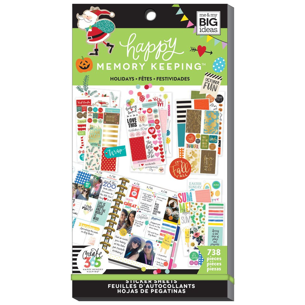 HAPPY MEMORY KEEPING VALUE PACK STICKERS - SEASONS & HOLIDAYS - HAPPY PLANNER STICKERS