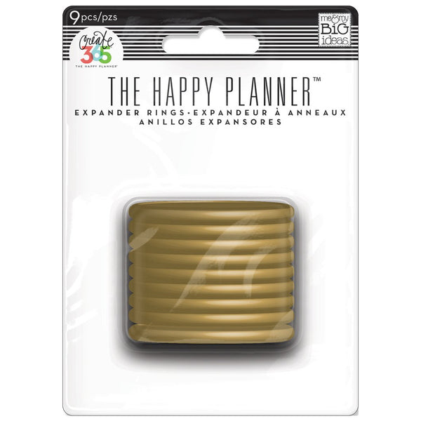 HAPPY PLANNER EXPANDER DISCS : GOLD