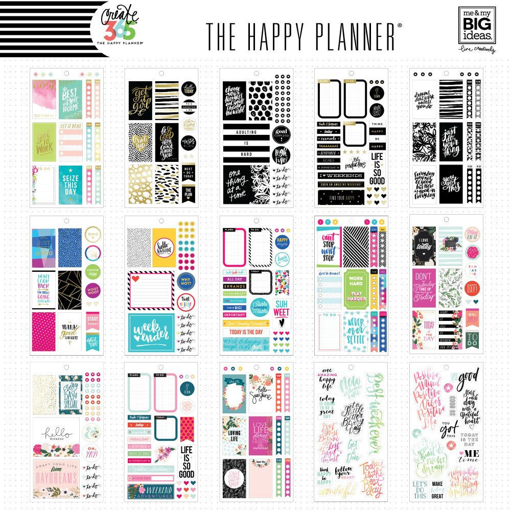 HAPPY PLANNER VALUE PACK STICKERS : CLASSIC : CLASSIC COLOUR WAY
