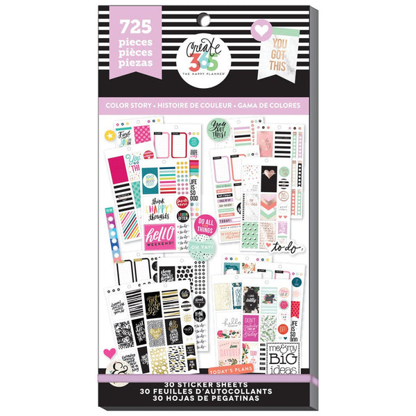 HAPPY PLANNER VALUE PACK STICKERS : CLASSIC COLOUR WAY