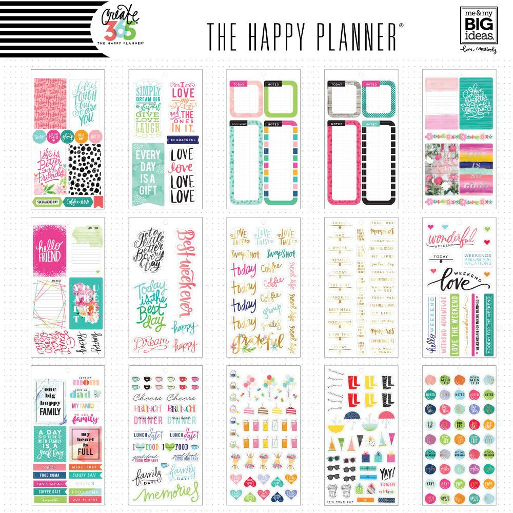 Happy Planner Value Pack Stickers Memory Keeping Washigang Australia