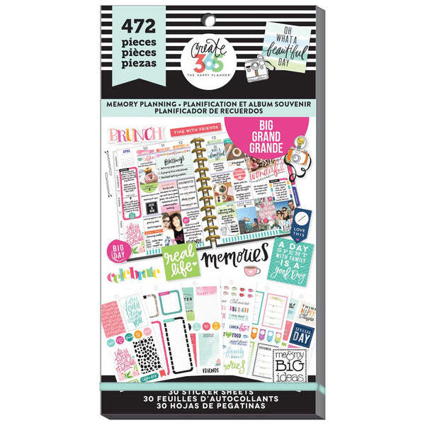 HAPPY PLANNER VALUE PACK STICKERS : MEMORY KEEPING