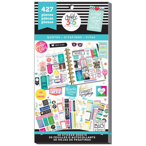 HAPPY PLANNER VALUE PACK STICKERS : QUOTES