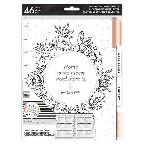 **PRE-ORDER** HOUSEHOLD EXTENSION PACK : CLASSIC HAPPY PLANNER