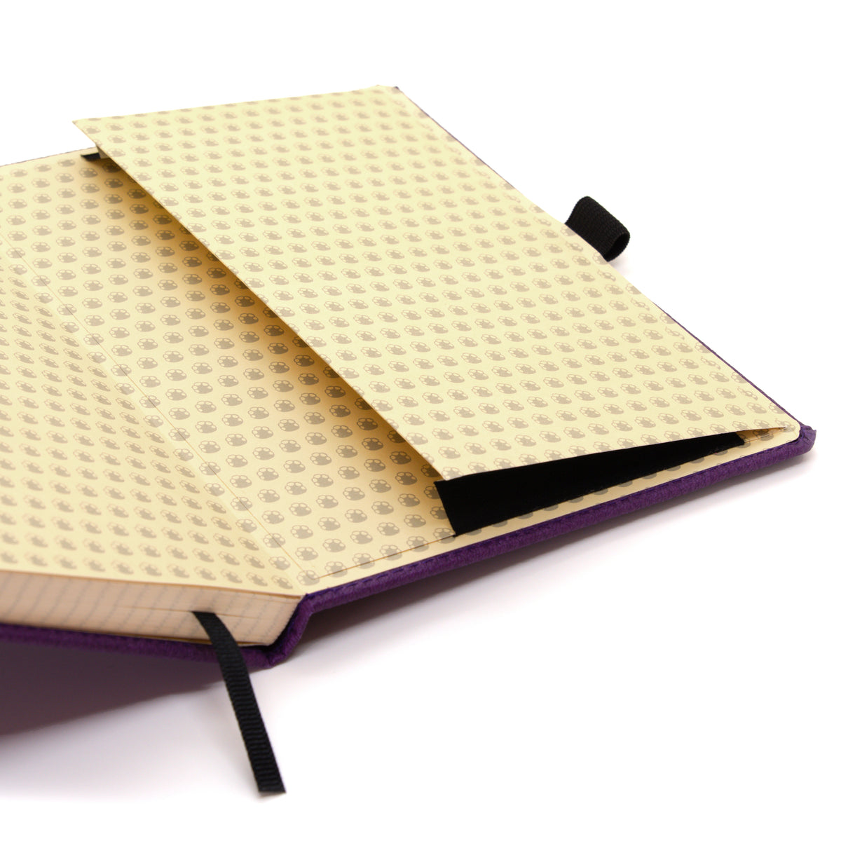 A5+ DOT GRID NOTEBOOK - WILDLIFE COLLECTION - PURPLE HIPPO