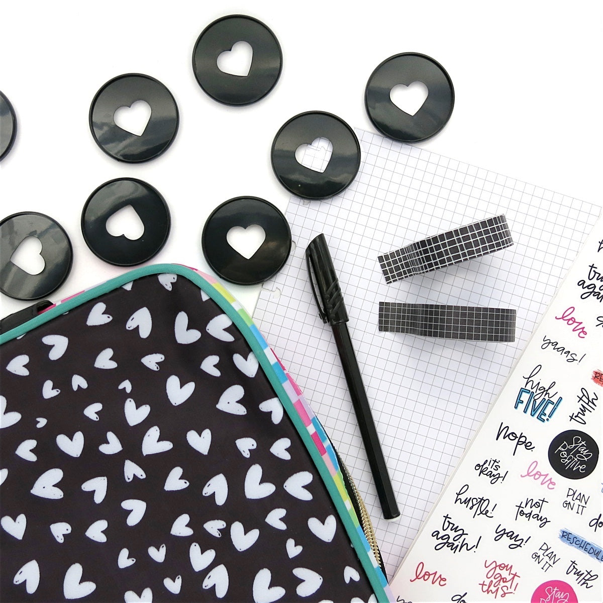 GRID WASHI TAPE : BLACK
