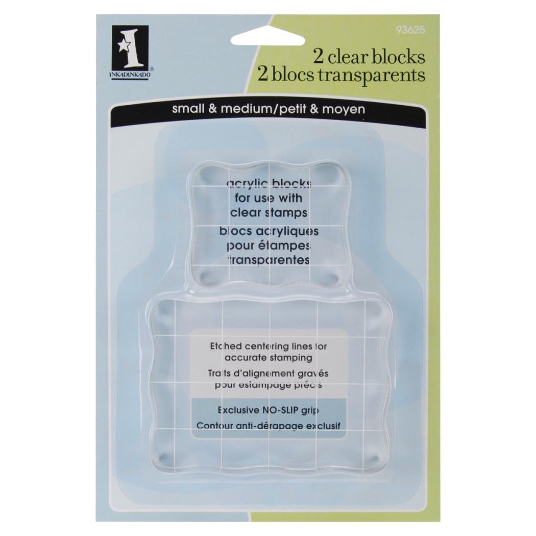 INKADINKADOO CLEAR ACRYLIC BLOCKS