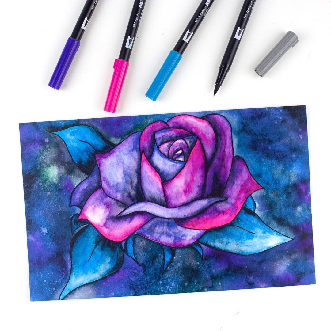 DUAL BRUSH PENS 6PK : GALAXY COLOURS
