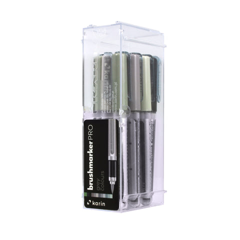 BRUSHMARKER PRO BRUSH PEN SET : 12 GREY COLOURS