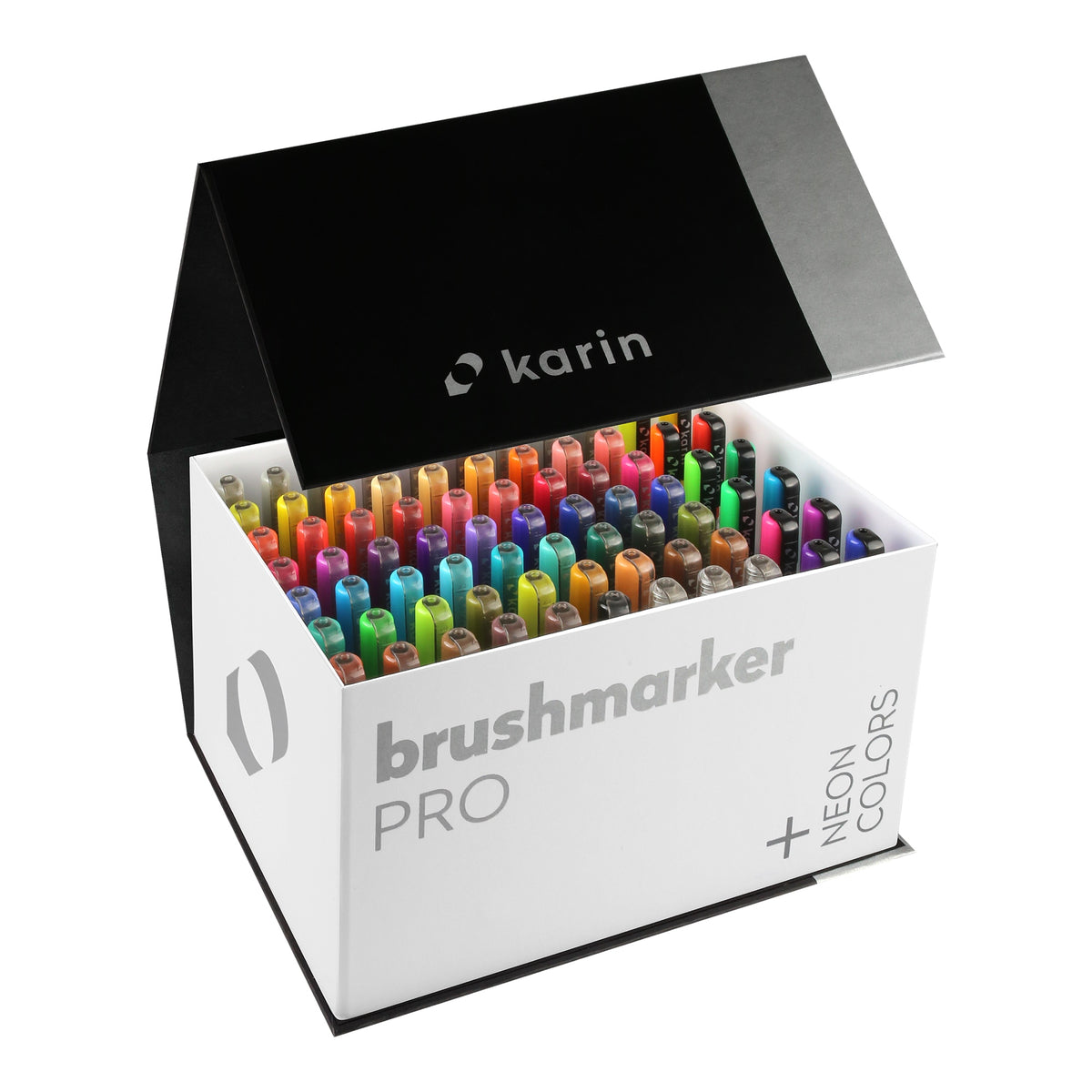 BRUSHMARKER PRO BRUSH PEN MEGA BOX PLUS : 72 COLOURS + 3 BLENDER PENS