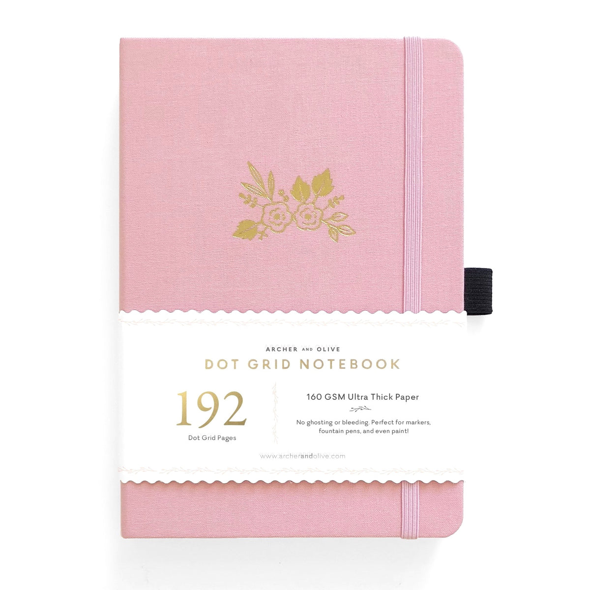 A5 DOT GRID NOTEBOOK WITH 192 PAGES : LIGHT PINK