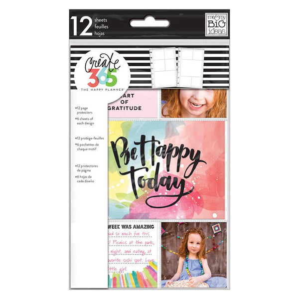 CLEAR PAGE PROTECTORS : MINI HAPPY PLANNER