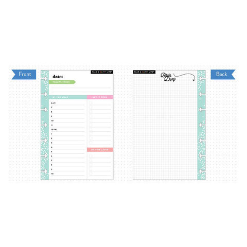 MINI HAPPY PLANNER - NOTE PAPER INSERT - ME & MY BIG IDEAS