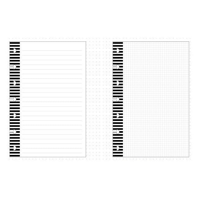 Lined Boxes Notes Dashboard Insert for use with MINI Happy Planner
