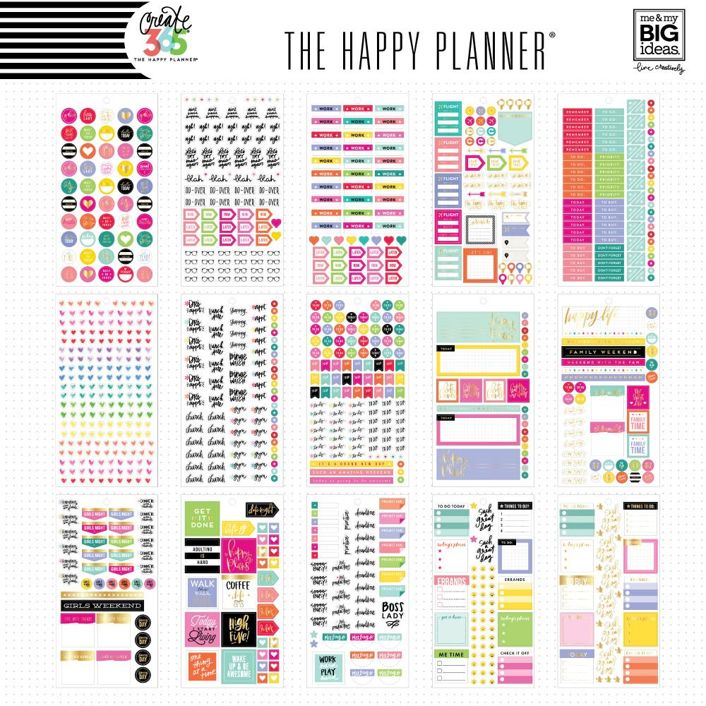 HAPPY PLANNER VALUE PACK STICKERS : MINI : PLANNER BASICS