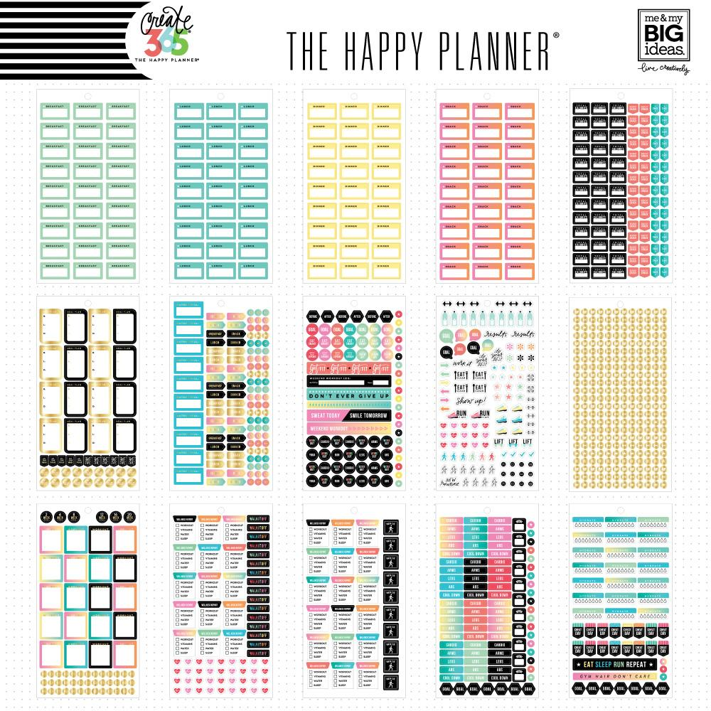 HAPPY PLANNER VALUE PACK STICKERS - MINI - WORK IT OUT FITNESS STICKERS - WASHIGANG AUSTRALIA