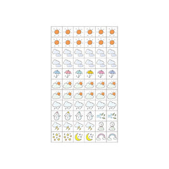 WEATHER DECORATION STICKERS