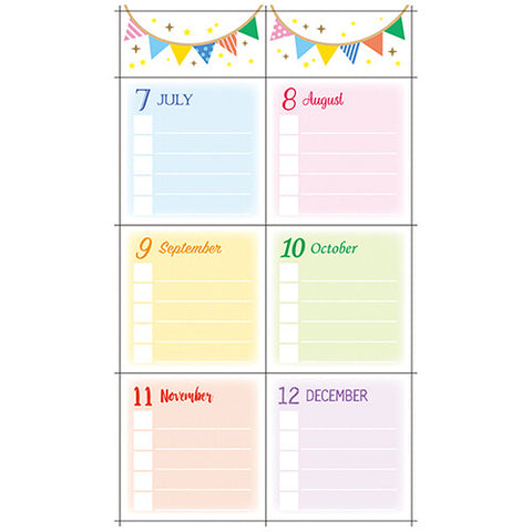 BIRTHDAY LIST STICKERS