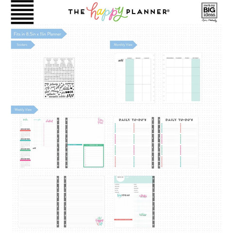 6 MONTH MONTHLY EXTENSION PACK : BIG HAPPY PLANNER